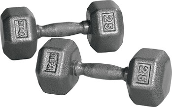 95 Lb Iron Pro Hex Dumbbell Pair By York Fitness