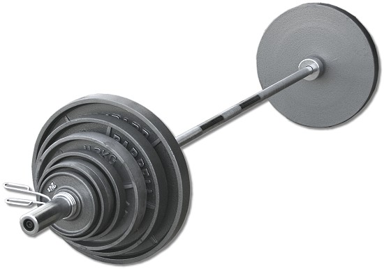 300 Lb Wide Flange Olympic Cast Iron Weight Set Fitness