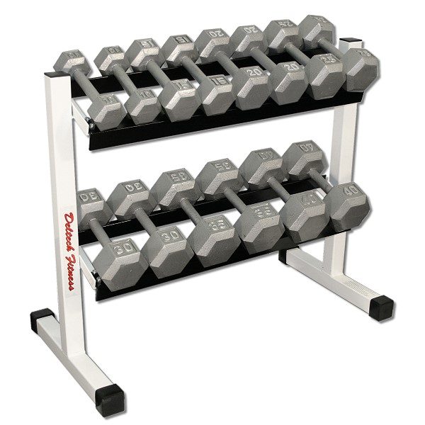 36 Quot Two Tier Hex Dumbbell Rack With 10 40lb Dumbbell Set