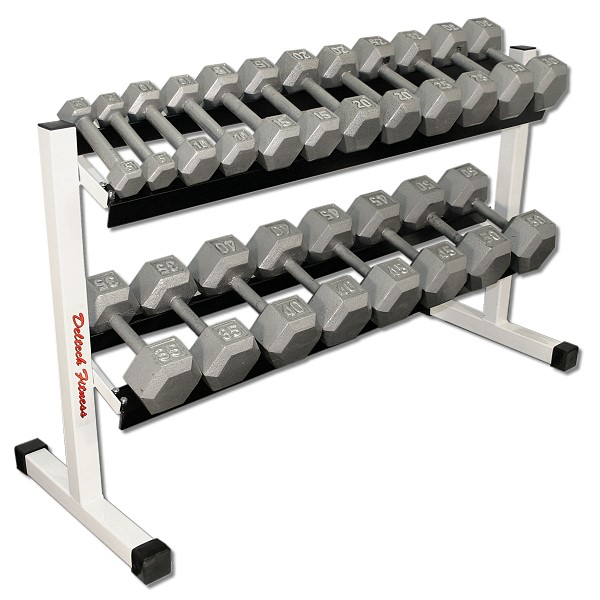 Deltech Fitness Df513 Rack With 5 50 Lb Dumbbell Set